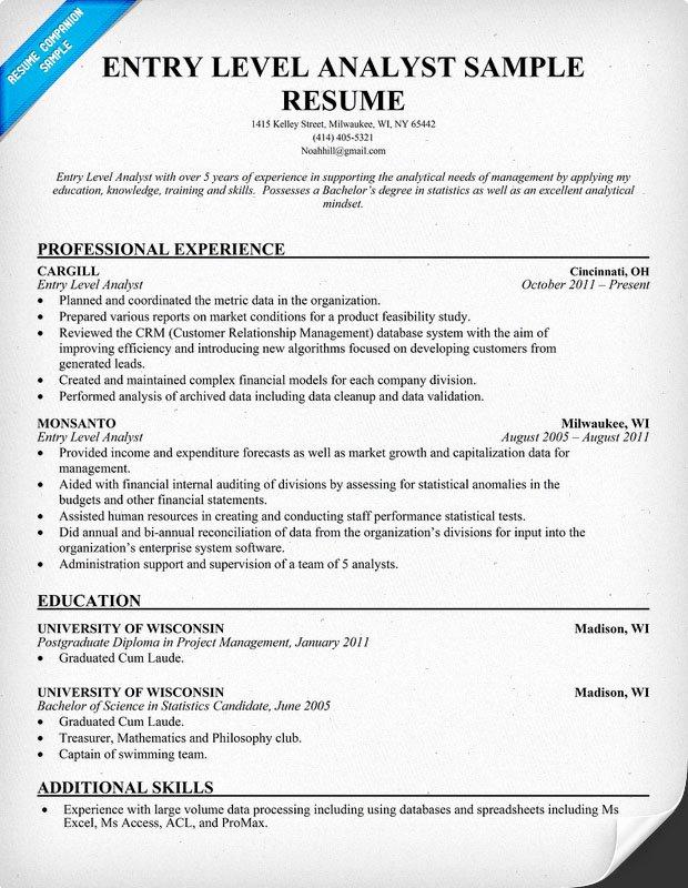 Entry Level Receptionist Resume Luxury Entry Level Business Analyst Resume