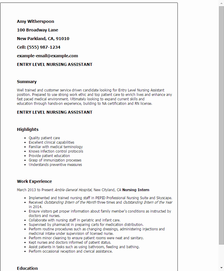 Entry Level Receptionist Resume New 1 Entry Level Receptionist Resume Templates Try them now