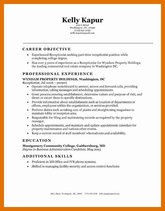 Entry Level Receptionist Resume New 2 3 Entry Level Receptionist Resume Sample