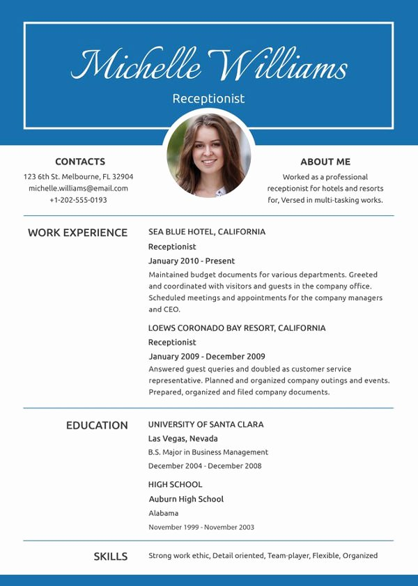 Entry Level Receptionist Resume Unique 10 Receptionist Resumes Free Sample Example format
