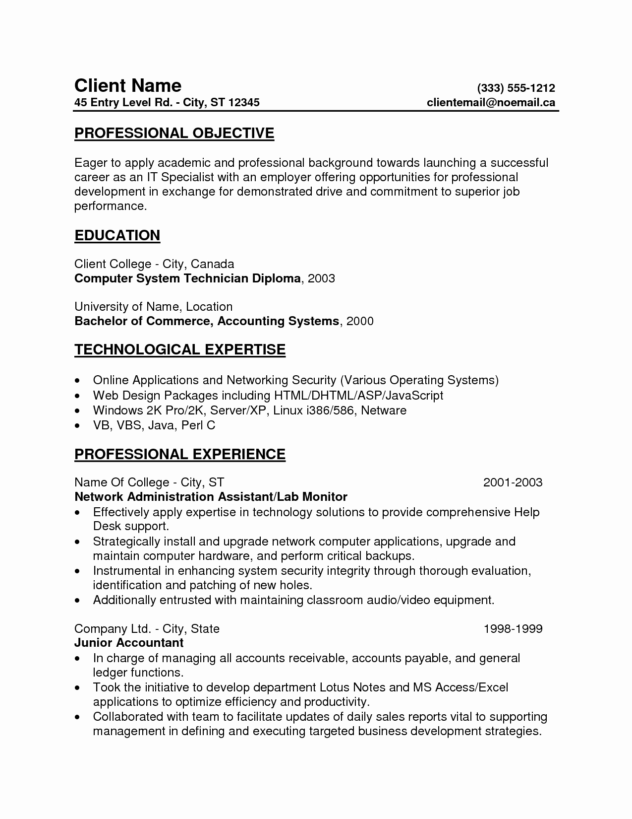 Entry Level Resume High School Beautiful Free Entry Level Resumes Samplebusinessresume