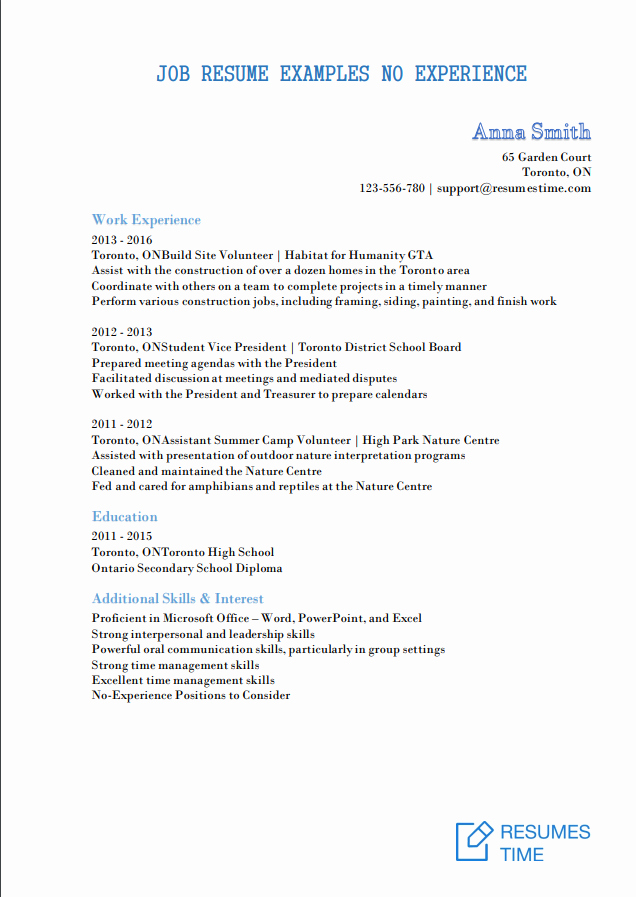 Entry Level Resume High School Elegant Entry Level Resume Samples Examples Template to Find the