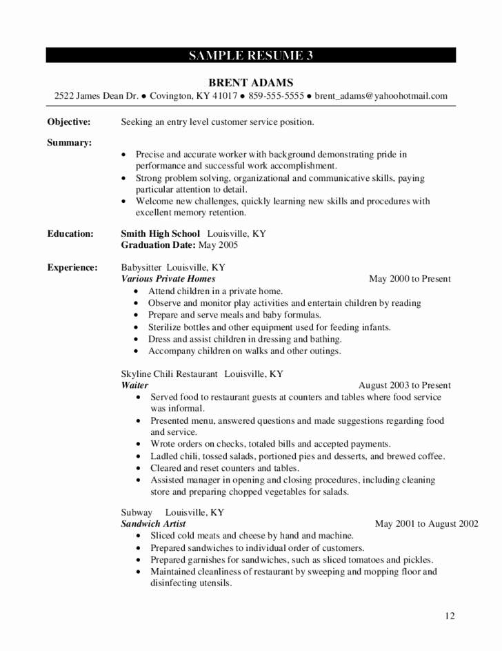Entry Level Resume High School Fresh High School Student Resume Worksheet Free Download