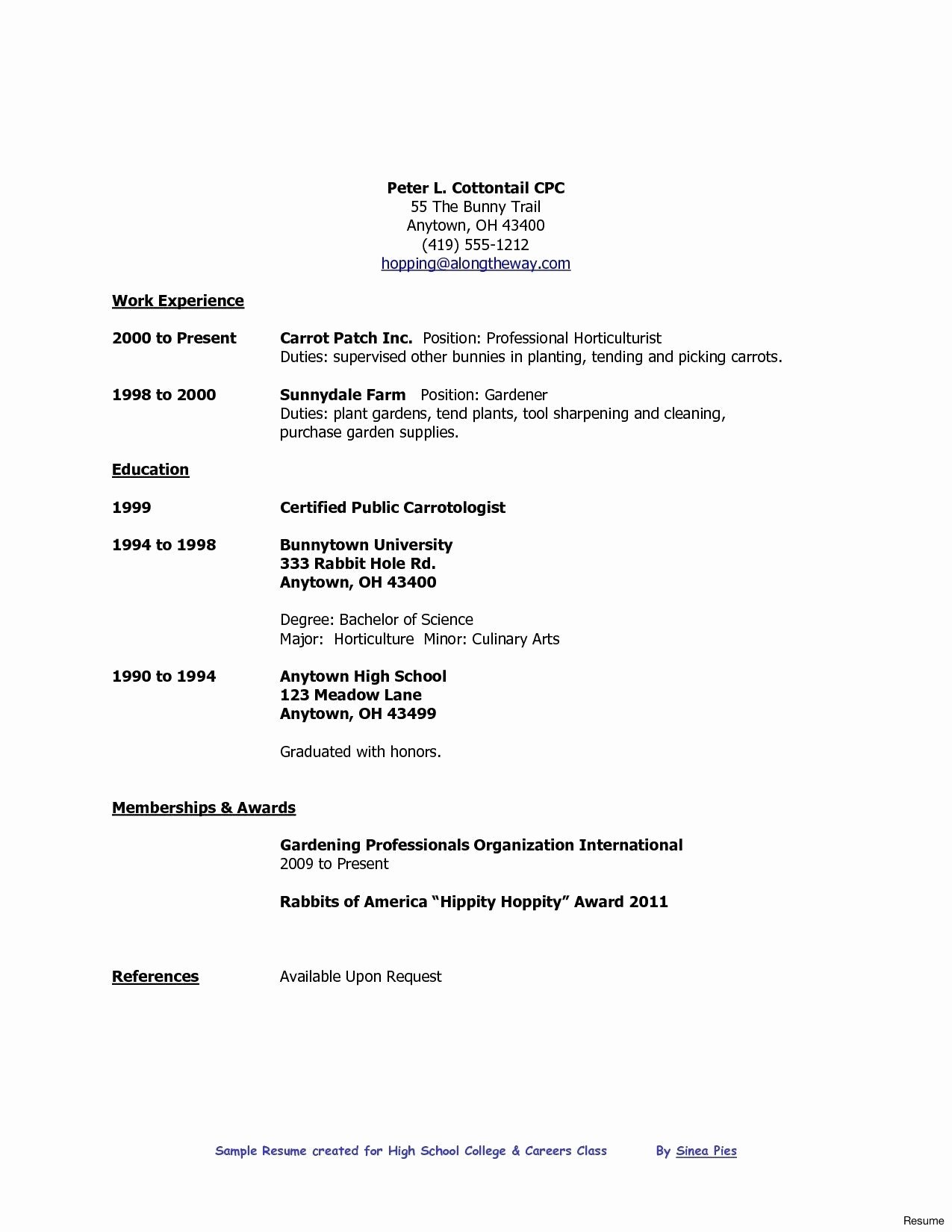 Entry Level Resume High School Lovely High School Graduate Pit