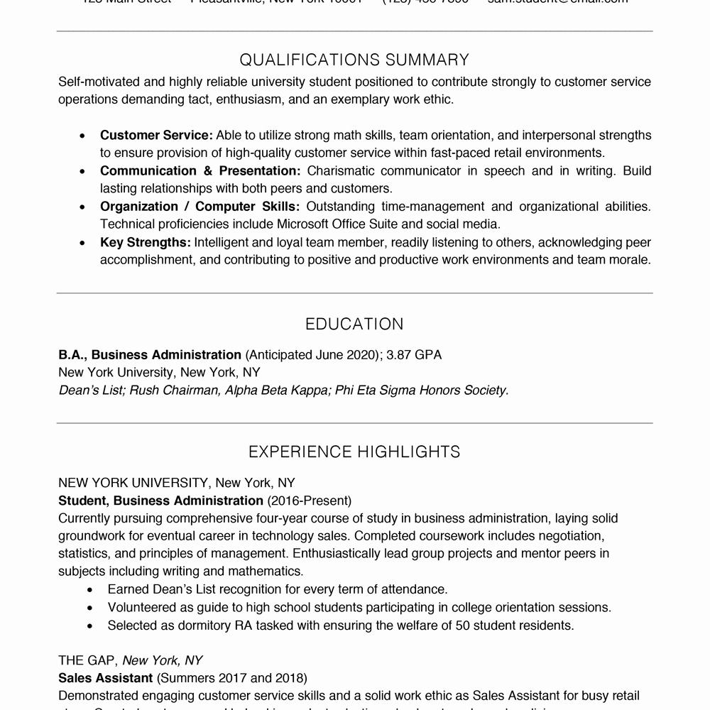 Entry Level Resume High School Lovely Resume Skills for High School Students