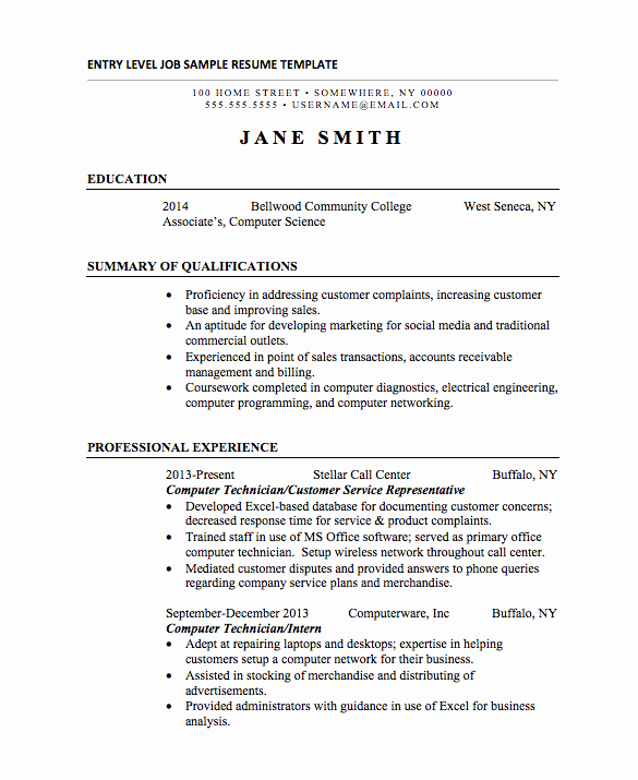 Entry Level Resume High School Luxury 21 Basic Resumes Examples for Students