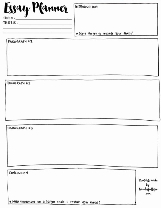 Essay Outline Template Printable Best Of Best 25 Outline Essay Ideas On Pinterest