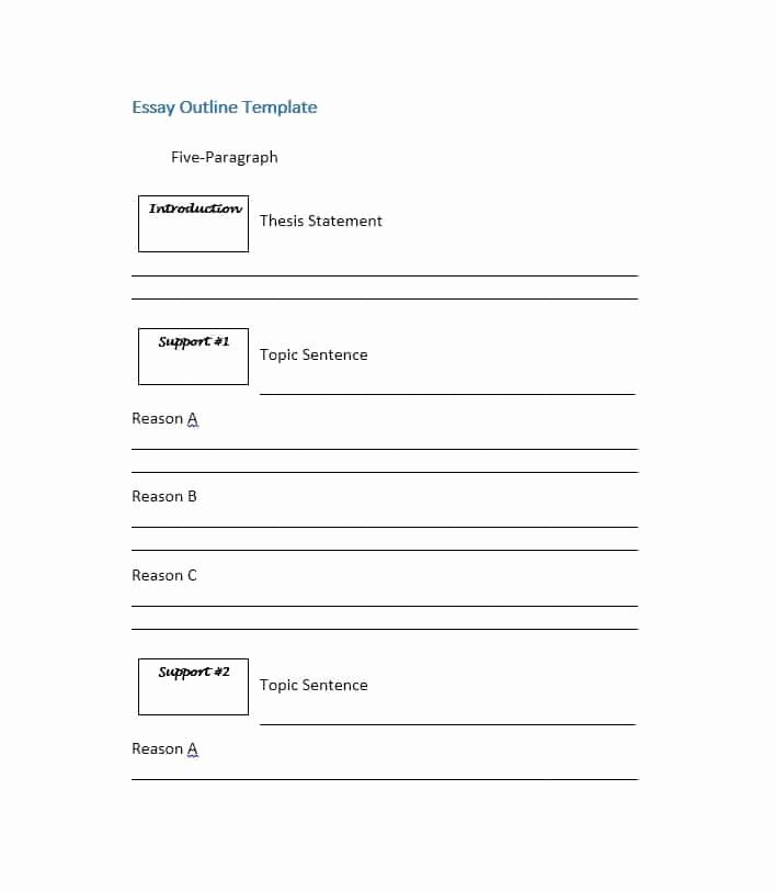 Essay Outline Template Printable Fresh Essay Outline Template Printable