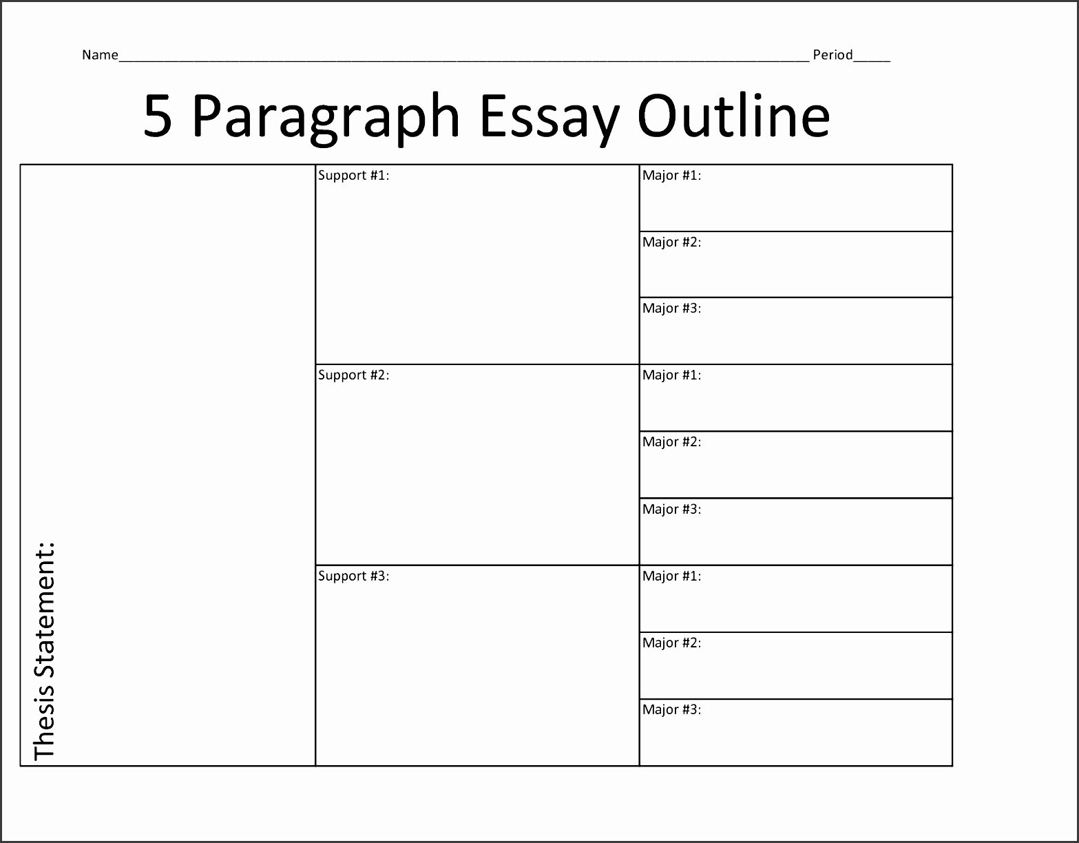 Essay Outline Template Printable Inspirational 8 Printable Outline Template Sampletemplatess
