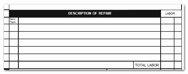 Estimate Of Repairs form Unique Print It 4 Less Blog