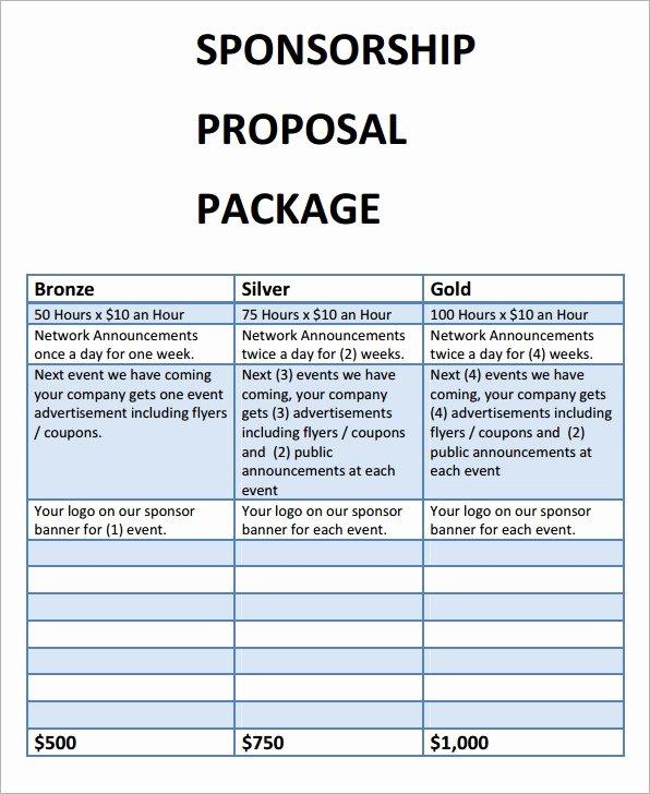 Event Sponsorship Proposal Example Fresh Free 17 Sample Sponsorship Proposal Templates In Google