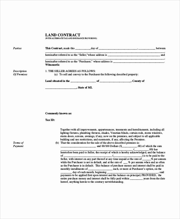 Example Of A Land Contract Awesome Sample Agreement form 36 Examples In Word Pdf