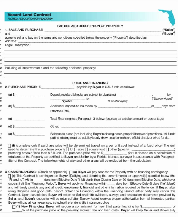 Example Of A Land Contract Beautiful 8 Land Contract Templates Examples In Word Pdf