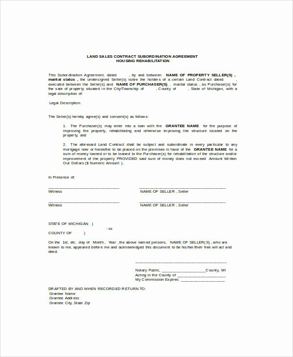 Example Of A Land Contract Best Of Sample Contract Agreement 34 Examples In Word Pdf