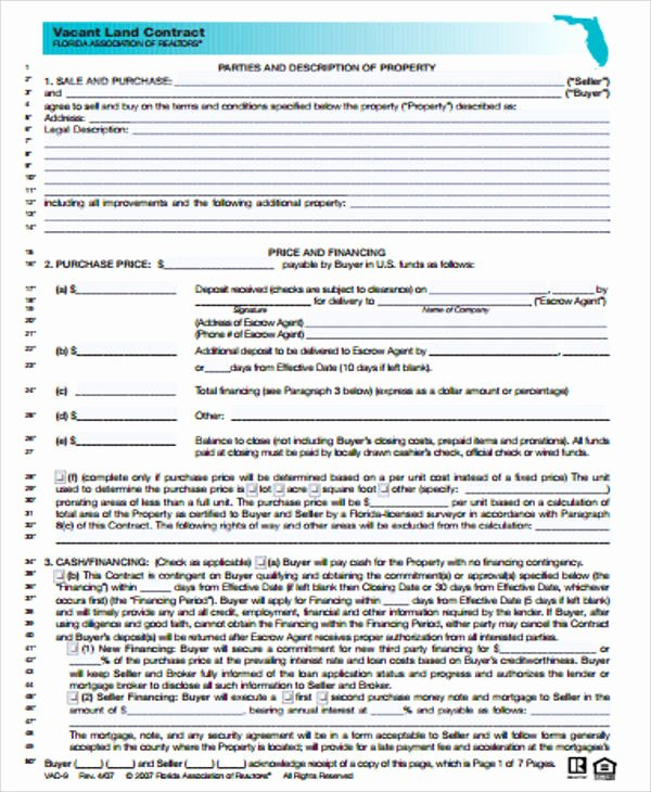 Example Of A Land Contract Best Of Sample Land Contract Agreement 9 Examples In Word Pdf