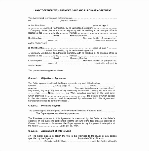 Example Of A Land Contract Elegant 23 Sales Contract Templates Word Pdf Google Docs