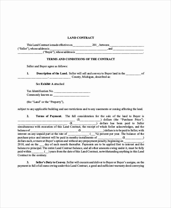Example Of A Land Contract Lovely Sample Contract Agreement 34 Examples In Word Pdf