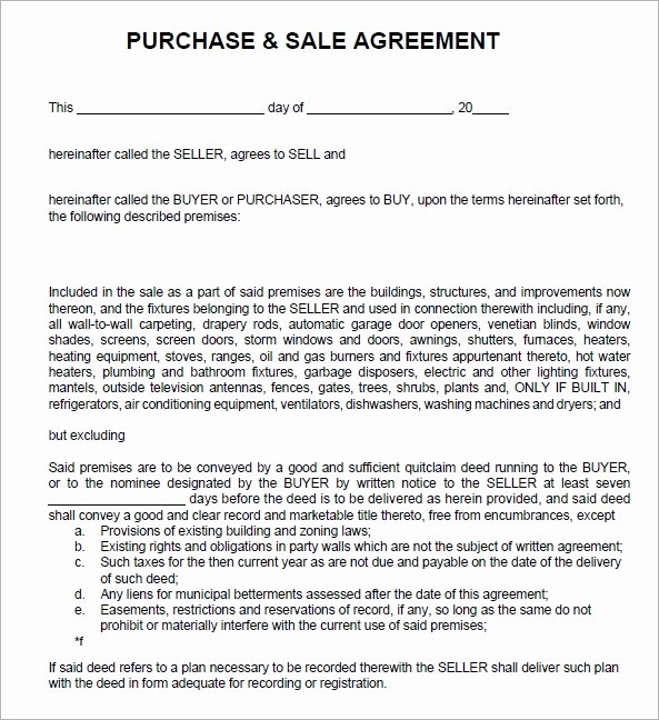 Example Of A Purchase Agreement Elegant Sales Agreement 6 Free Pdf Doc Download