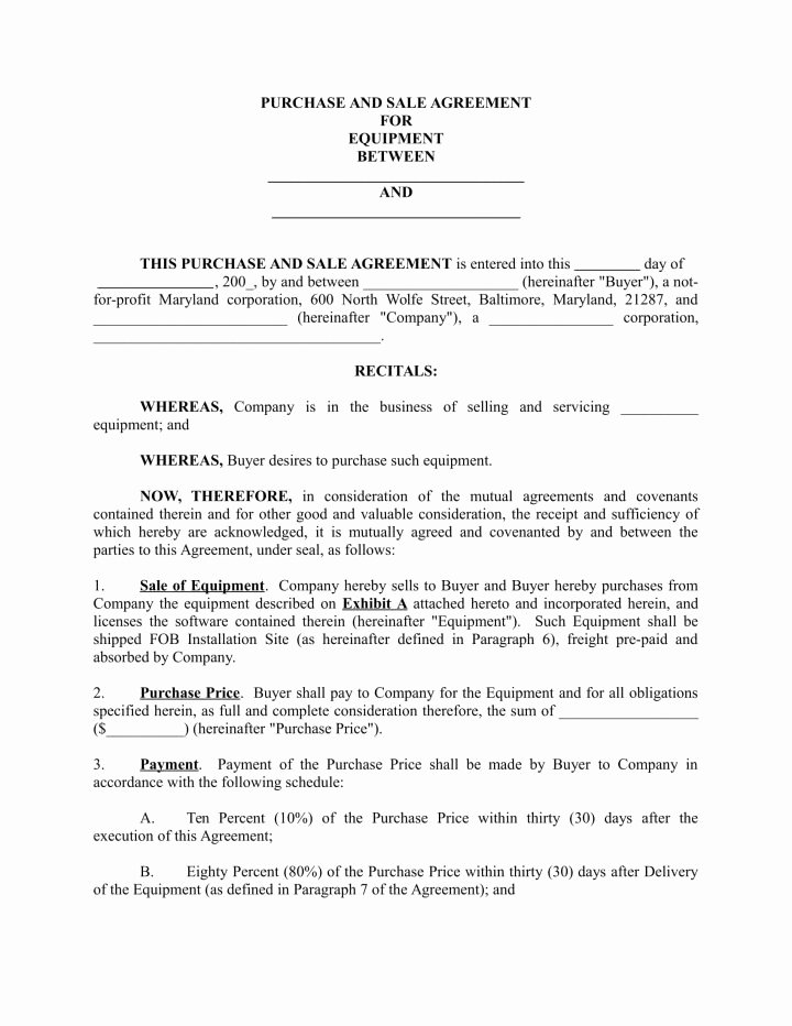 Example Of A Purchase Agreement Fresh 6 Supply Agreements for A Restaurant Cafe & Bakery Pdf