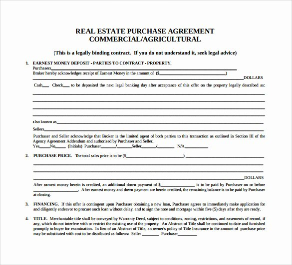 Example Of A Purchase Agreement Unique Sample Home Purchase Agreement 6 Documents In Pdf Word