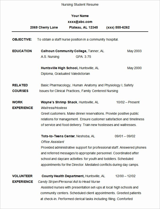 Example Of Academic Resume Awesome 7 Example Of An Cv for A Student