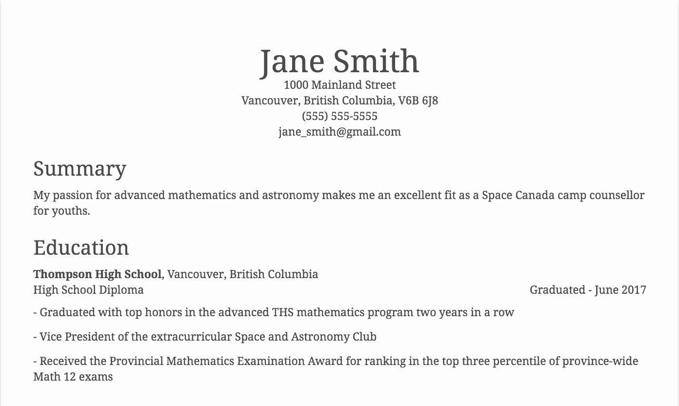 Example Of Academic Resume Beautiful How to List Academic Achievements On A Resume 3 Examples