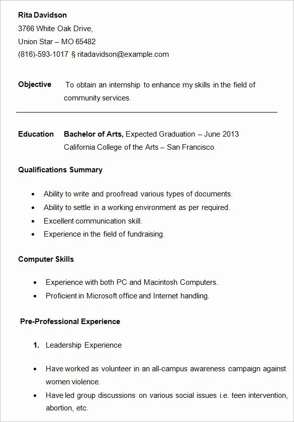 Example Of Academic Resume Elegant 24 Best Student Sample Resume Templates Wisestep