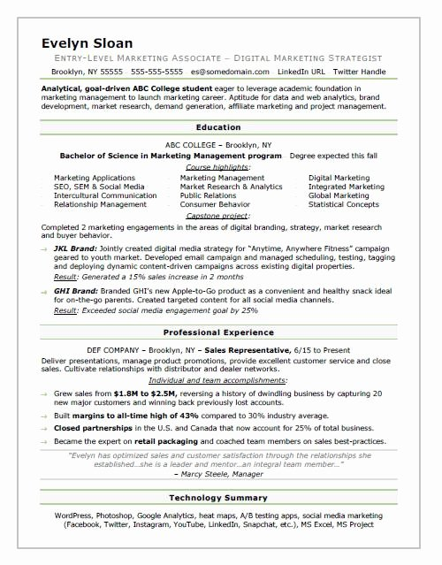 Example Of Academic Resume Elegant Student Resume Sample