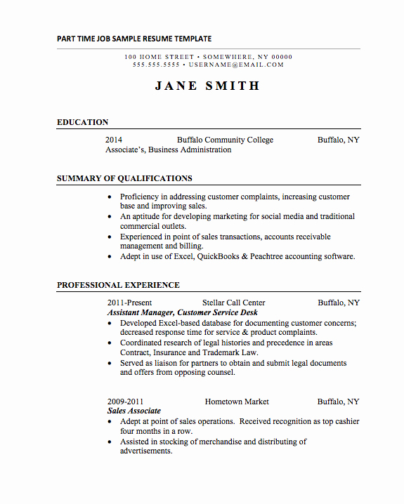 Example Of Academic Resume New 25 Basic Resumes Examples for Internships College