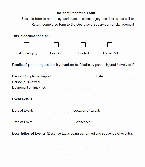 Example Of Accident Report Beautiful 14 Employee Incident Report Templates Pdf Doc
