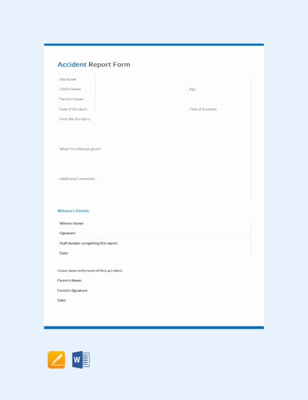 Example Of Accident Report Beautiful 19 Accident Report Template Free Sample Example