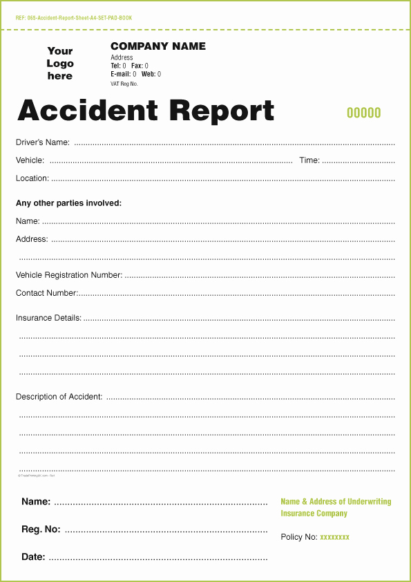 Example Of Accident Report Luxury Templates for Accident Report Book and Vehicle Condition