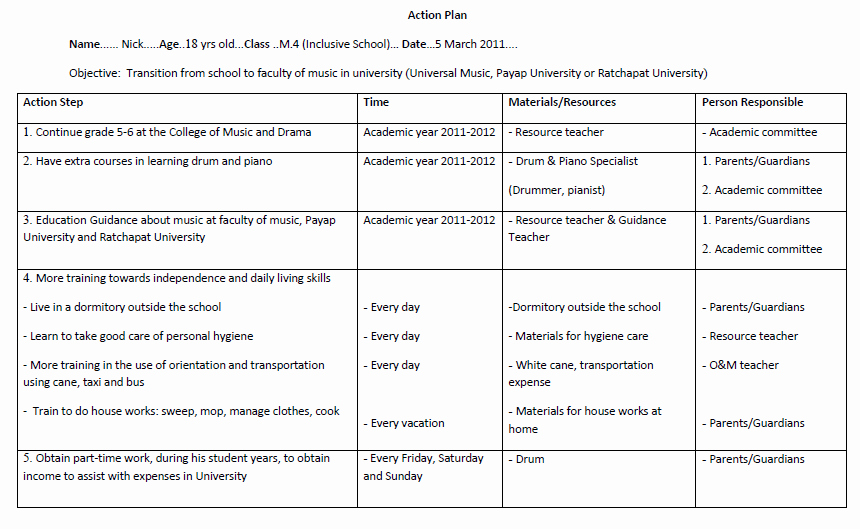 Example Of Action Plan Luxury 10 School Action Plan Templates Pdf Doc