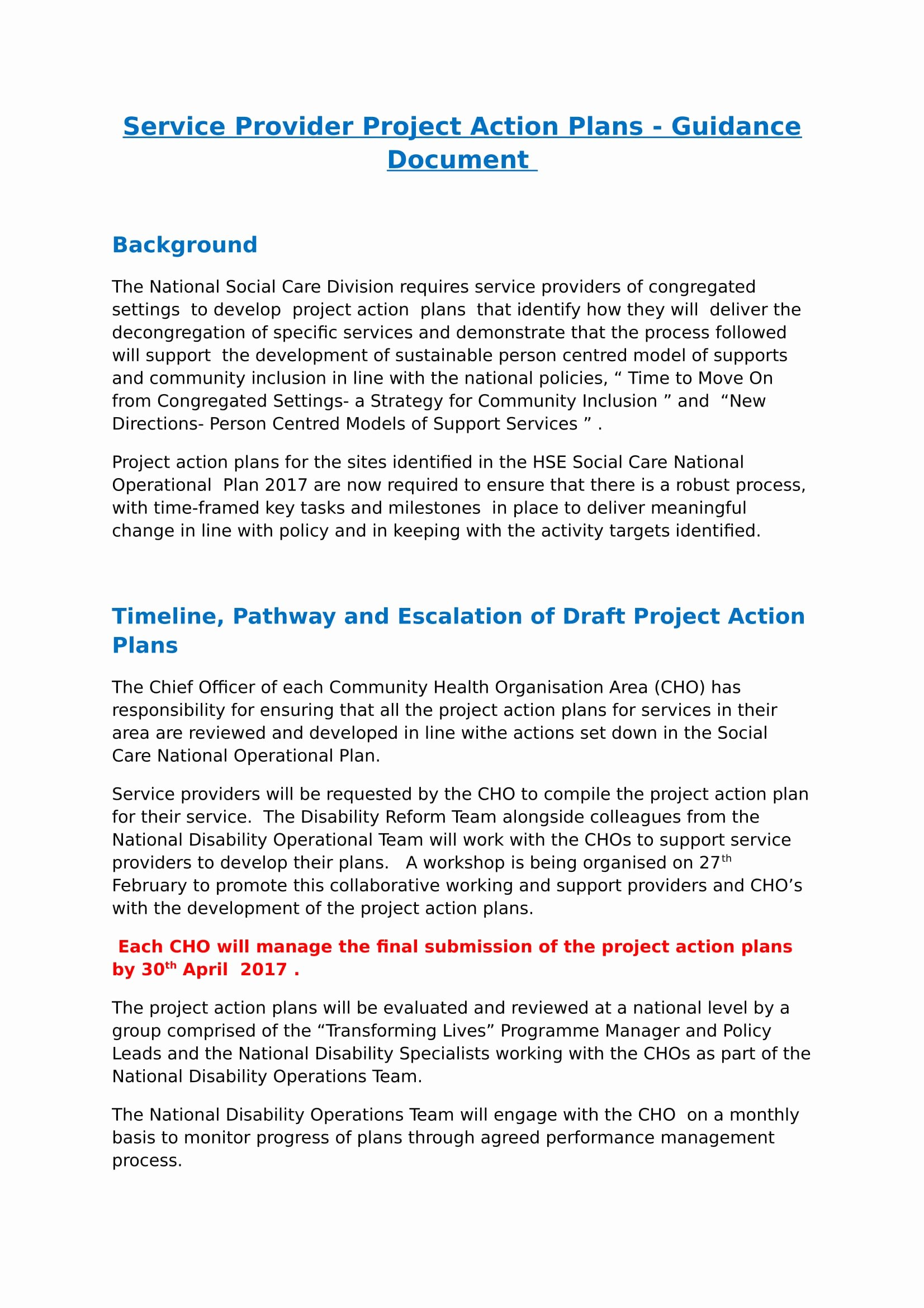 Example Of Action Plan New 25 Action Plan Examples Doc
