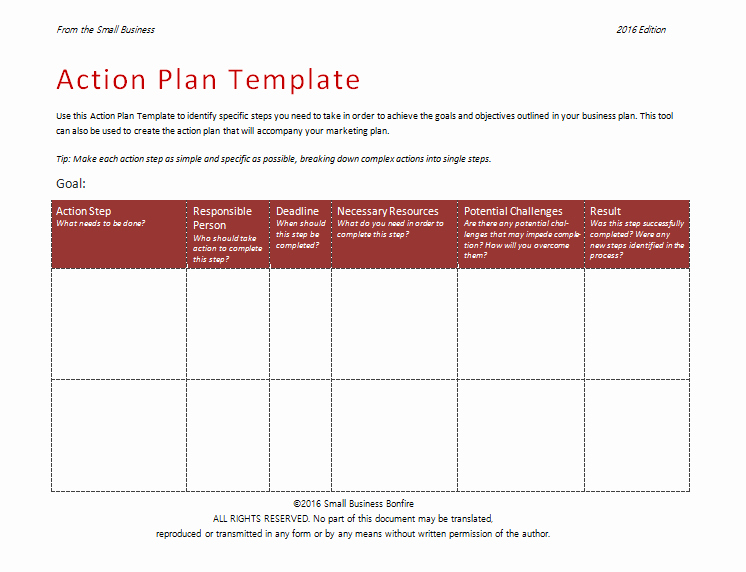 Example Of Action Plan Unique Action Plan Template An Easy Way to Plan Actions