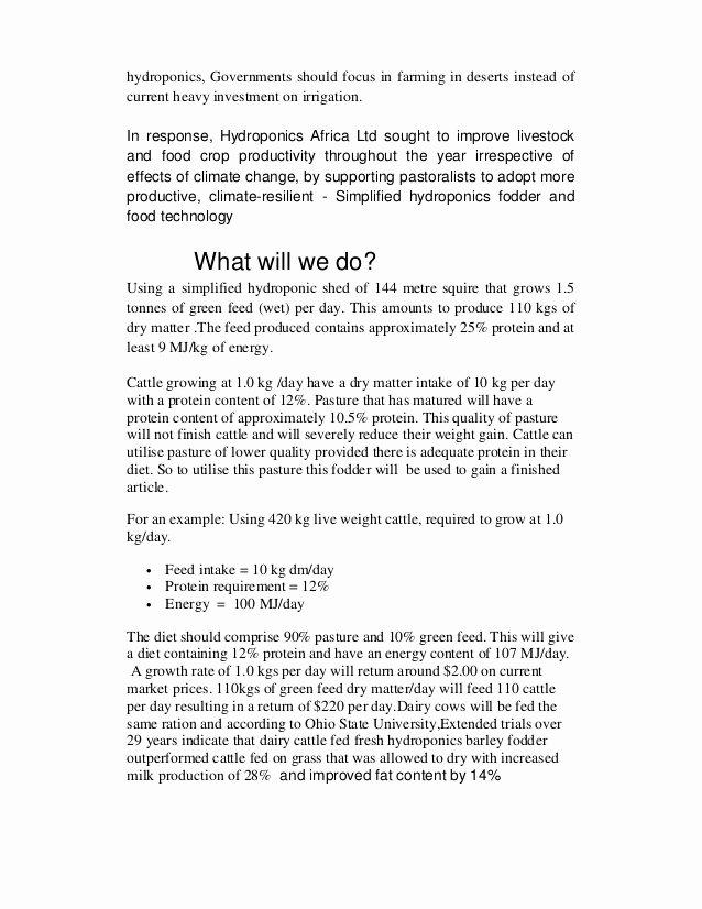 Example Of Concept Paper Unique Concept Paper Hydroponics