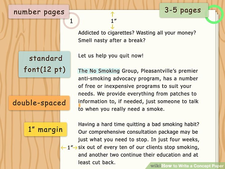 Example Of Concept Paper Unique How to Write A Concept Paper with Examples Wikihow