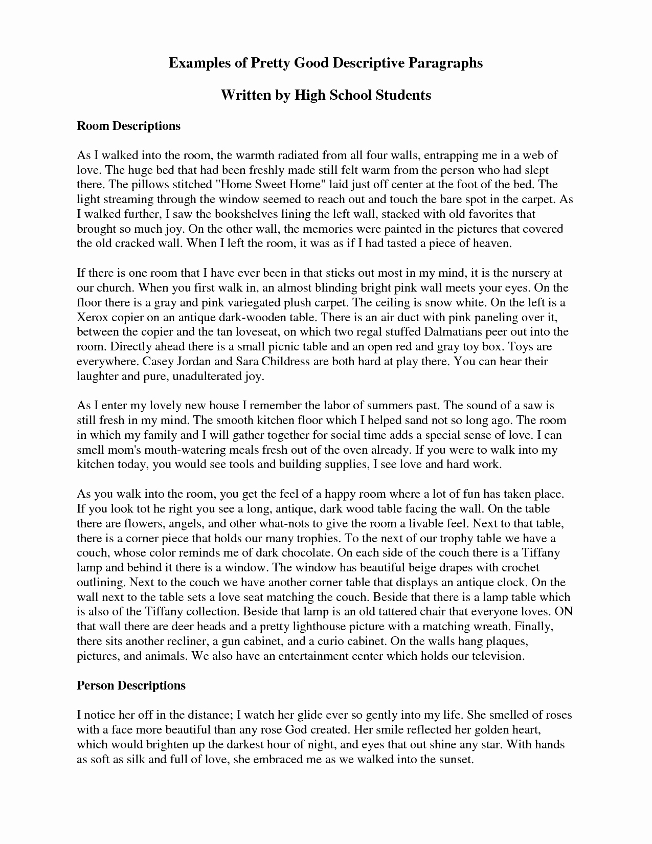 Example Of Descriptive Essay Elegant Descriptive Essay Help — You Need to Have Javascript