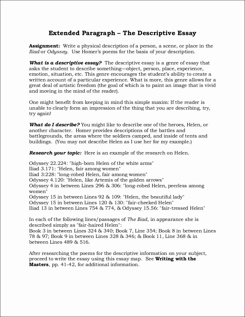 Example Of Descriptive Essay Fresh Free 9 Descriptive Essay Examples In Pdf