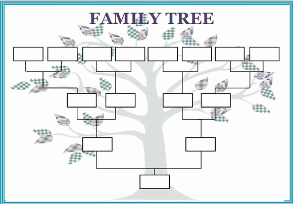 Example Of Family Tree Chart Inspirational Blank Family Tree Template Printable