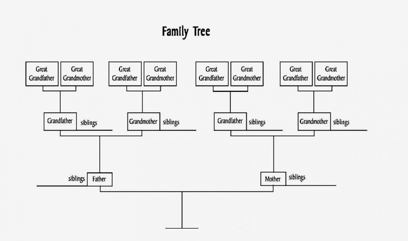 Example Of Family Tree Chart Inspirational Family Tree Diagram