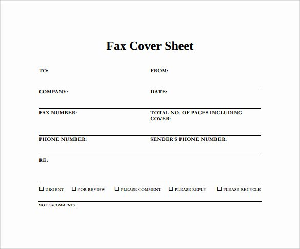 Example Of Fax Cover Sheet Elegant Sample Blank Fax Cover Sheet 14 Documents In Pdf Word