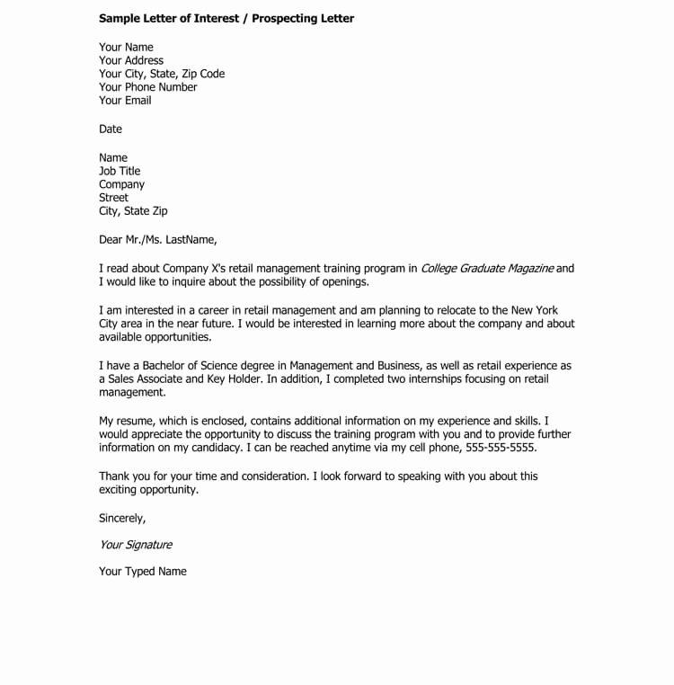 Example Of Letter Of Interest Elegant 38 Letter Of Interest Samples & Examples Writing Guidelines