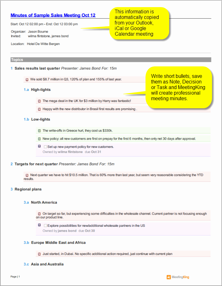 Example Of Meeting Minutes Fresh Sample Sales Meeting Minutes Template