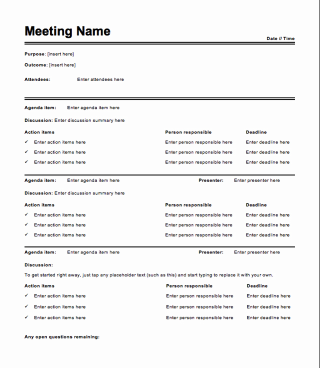 Example Of Meeting Minutes Inspirational Free Meeting Minutes Template How to Write Meeting