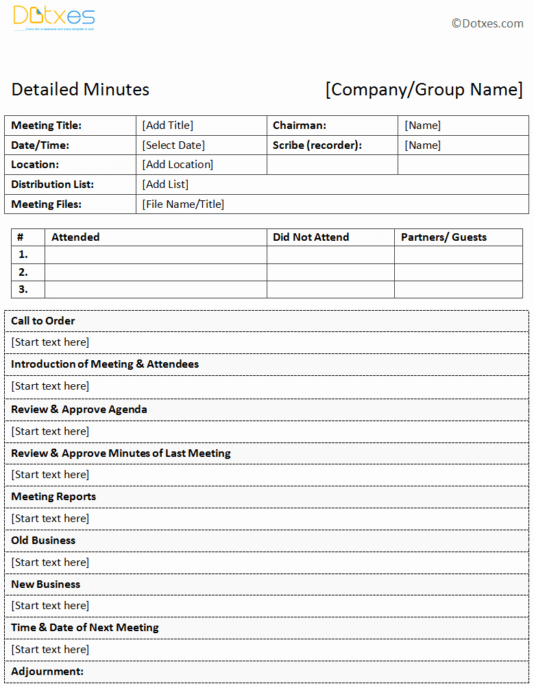 Example Of Meeting Minutes Lovely Meeting Minutes Templates Twelwe Image