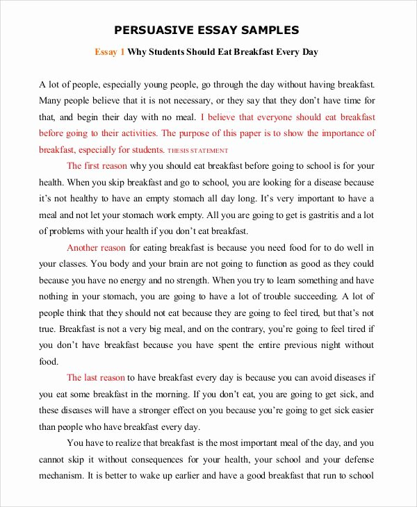 Example Of Persuasive Essay Best Of Persuasive Speech Example Template