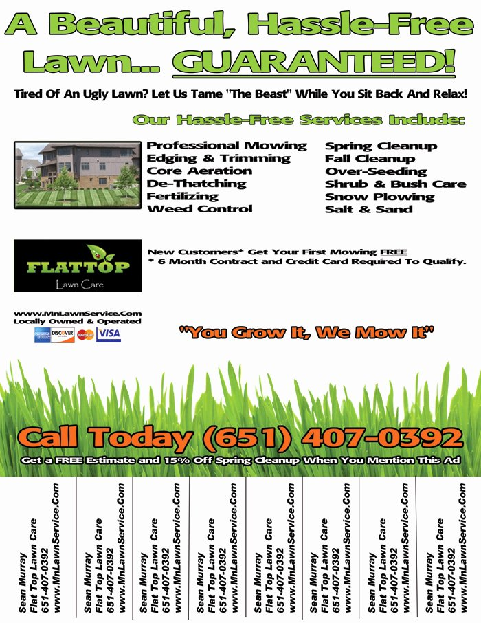 Examples Of Business Flyers Awesome Lawn Care Business Flyer