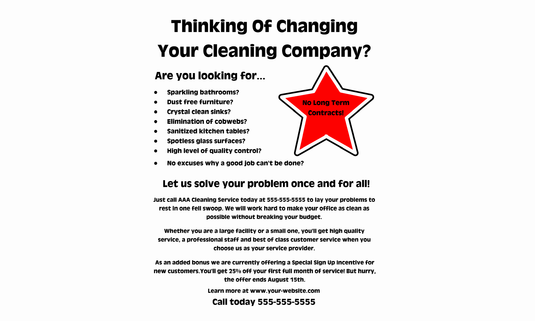 Examples Of Business Flyers Beautiful Mercial Cleaning Business Flyers Examples and Samples