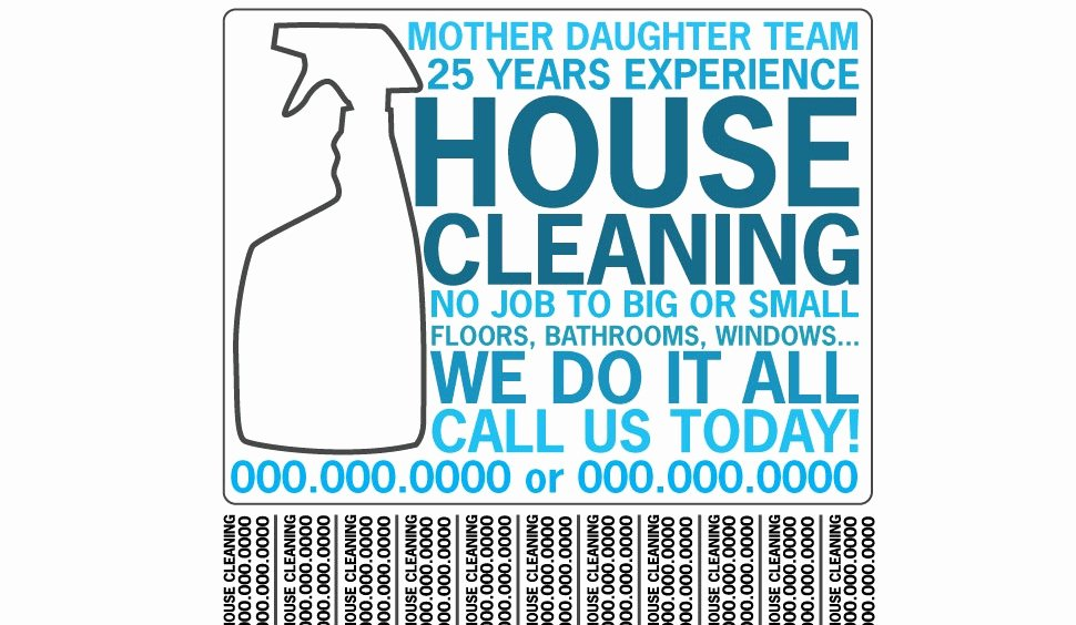 Examples Of Business Flyers Best Of Residential & House Cleaning Business Flyer Examples